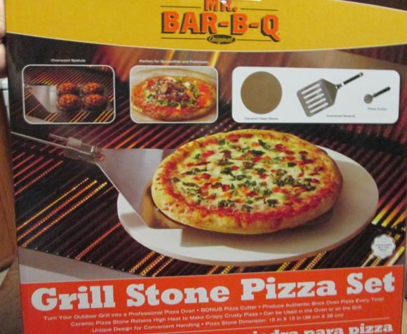 """Mr. Bar-B-Q 15"""" Grill Stone Pizza Kit"""