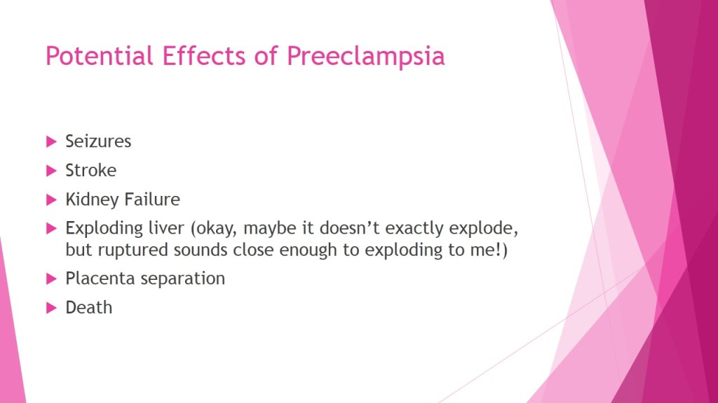 Potential effects of preeclampsia
