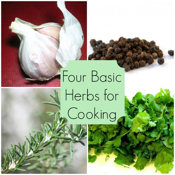 Four Herbs for Cooking