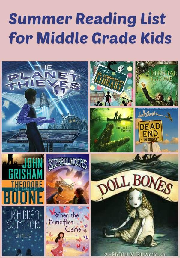 Summer Reading List for Middle Grade Kids