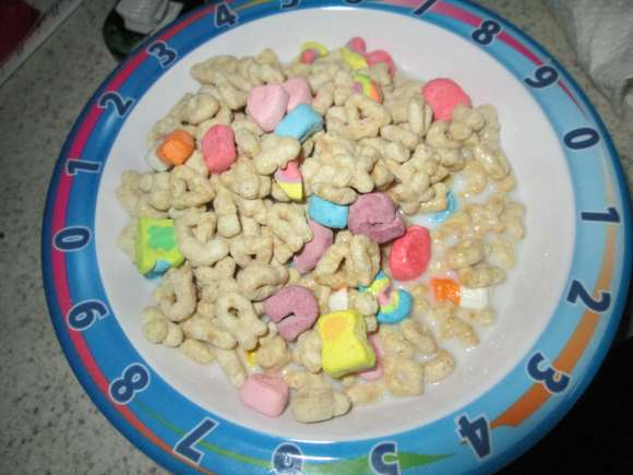 Breakfast at Home with Lucky Charms