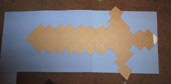 Make Your Own Minecraft Foam Sword Template