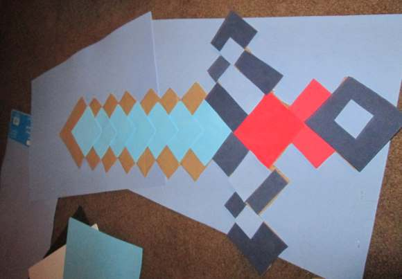 Minecraft Foam Sword in Progress