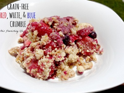 Grain-Free Blueberry Recipes: Blueberry Crumble