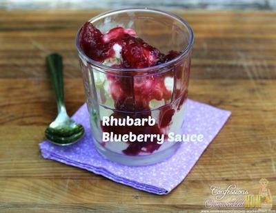 Rhubarb Blueberry Sauce