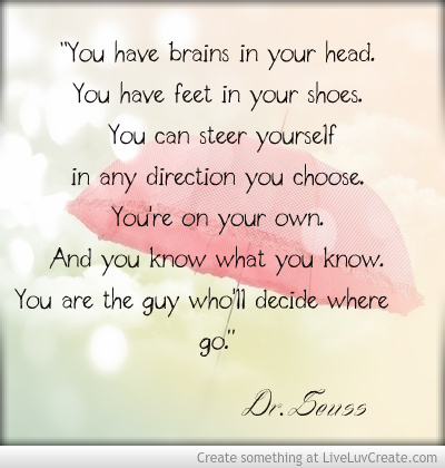 Dr Seuss Quote to inspire literacy