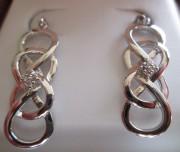 Helzberg Diamond Infinity X Infinity Earrings