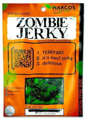 Zombie jerky for guys who like zombies