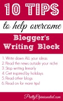 10 tips to overcome blog writers block