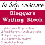 10 Tips for Overcoming Blog Writer's Block