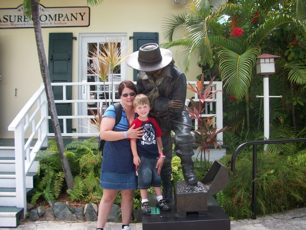 Hanging out with my little man in St. Thomas