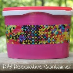 Easy DIY Back to School Duct Tape Decorative Storage Container Project
