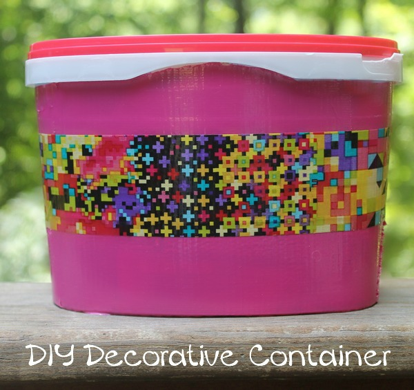 Pretty & Easy DIY Scotch Duct Tape Storage Container for Back to School