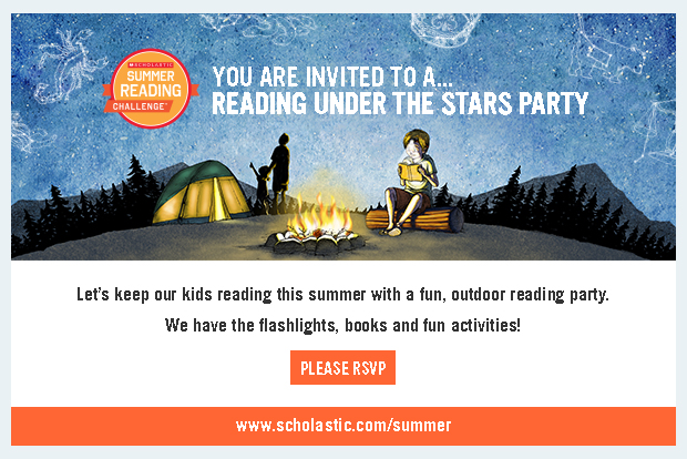 Summer Reading Under the Stars Party Invitation