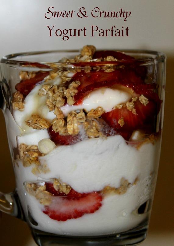 Sweet & Crunchy Strawberries & Yogurt Parfait Recipe