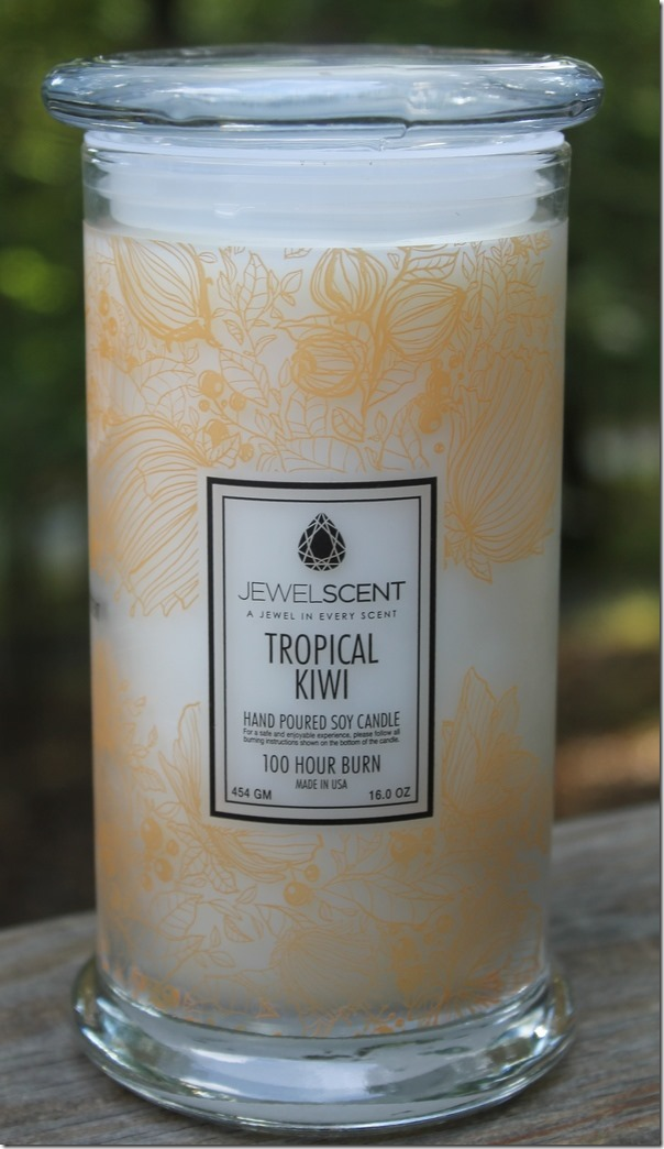 Jewel Scent Tropical Kiwi Candle: Two Gifts for Her in One