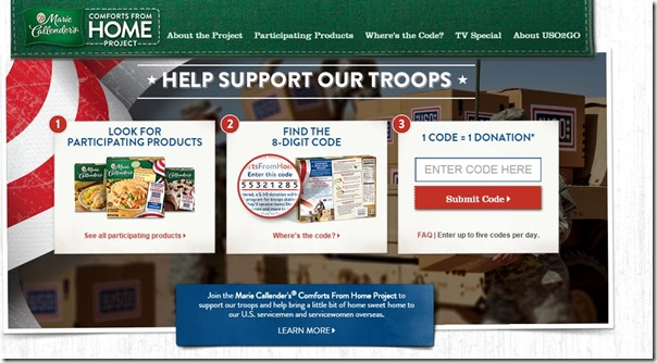Marie Callender Support Our Troops 5