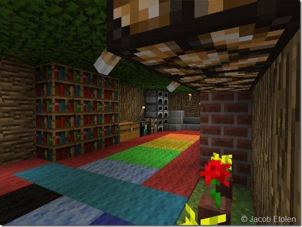 Minecraft hotel room