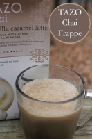 Spice Up Your Life with TAZO Chai + Vanilla Caramel Chai Frappe Recipe