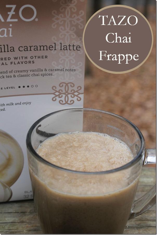 Vanilla Caramel Chai Frappe Recipe
