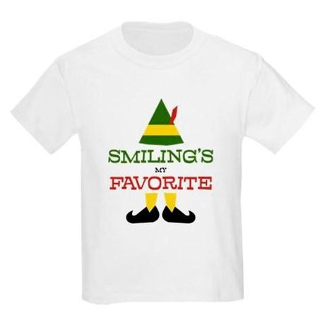 0ba8b7dc $10 Elf 'Smiling's My Favorite' Kids Tee from CafePress - Pretty ...