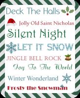 Wordless Wednesday: Christmas Subway Art