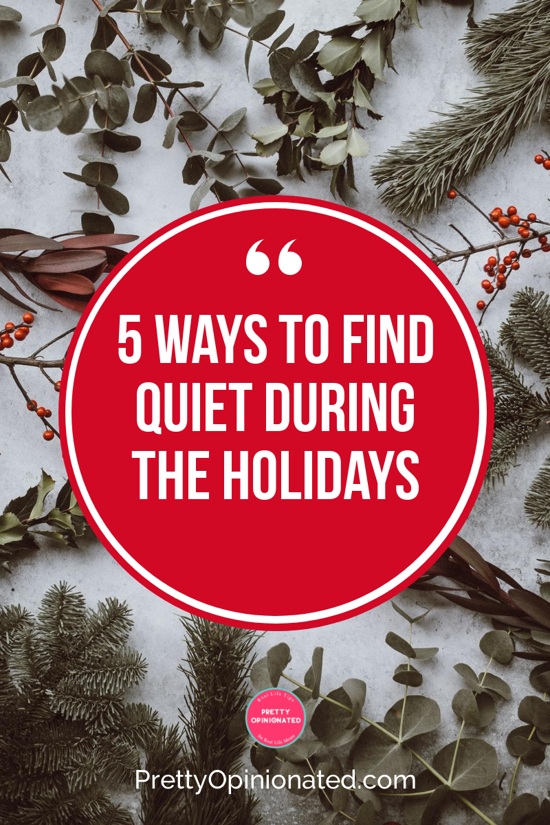 Looking for a few minutes to yourself amidst all the craziness? Check out these 5 tips for find a little peace and quiet during the holidays!