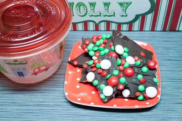 Spend the Holidays with M&Ms & Glad + Triple Chocolate Minty Bark Recipe
