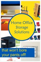 Looking for home office storage solutions that won't completely bore your pants off every time you glance at them? Take a look at six of my favorites!