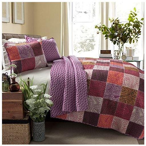 Lush Paisley Patchwork Quilt