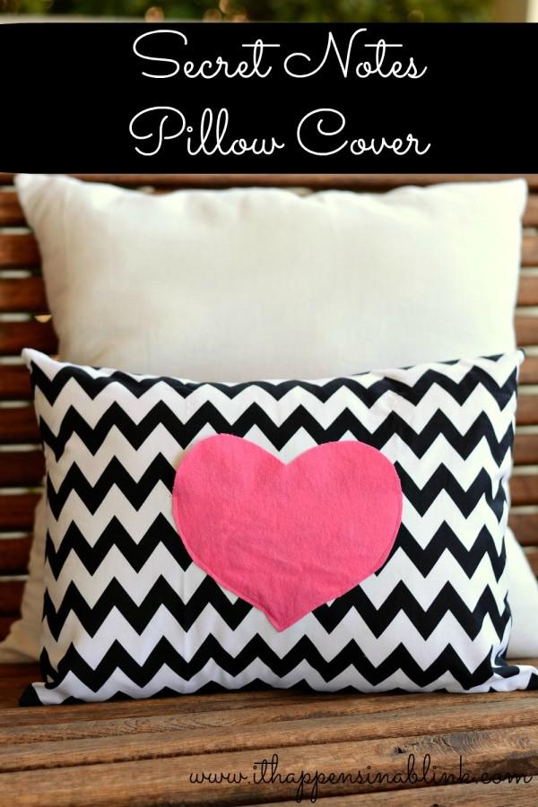 Secret Love Notes Pillow