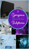 Get inspired to head out into a winter wonderland and create with these gorgeous snow and ice sculptures!