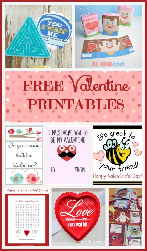 Check out these absolutely darling free Valentine's Day printables for handmade cards, activities and other crafting fun!