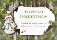 Winter greeting ideas