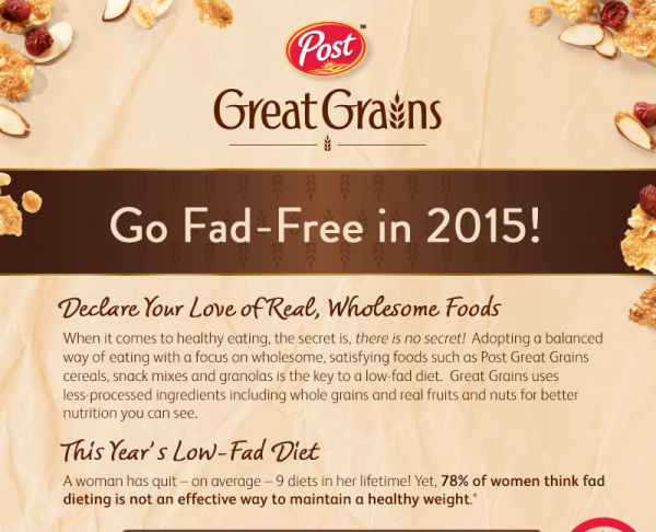 Go Fad-Free in 2015 with the Great Grains Pledge to stop fad diets