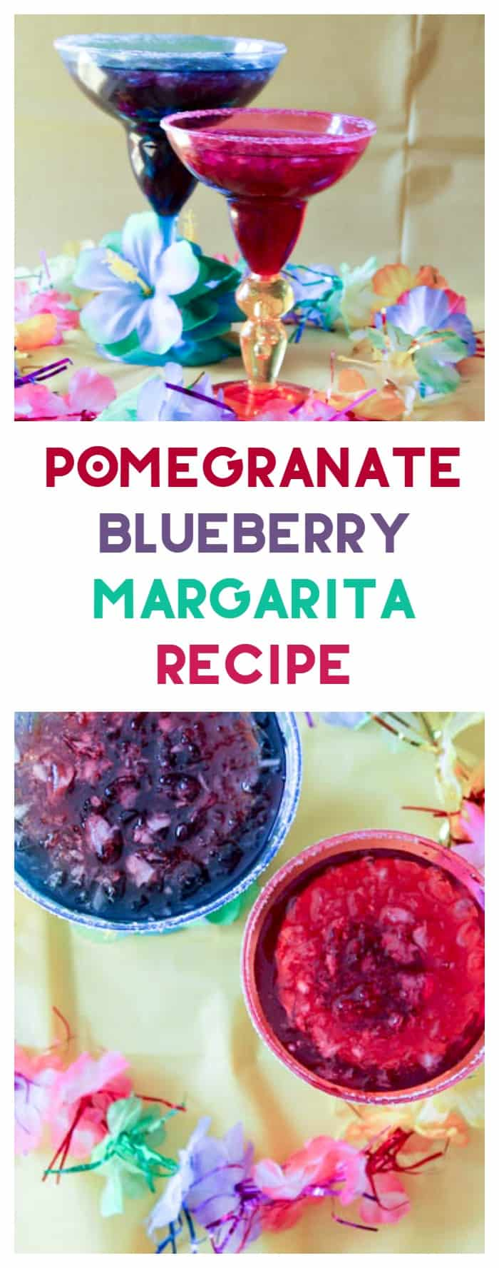 Love the combination of pomegranate and blueberry in this yummy margarita recipe. It's easy enough to make a non-alcoholic version if you want, too.