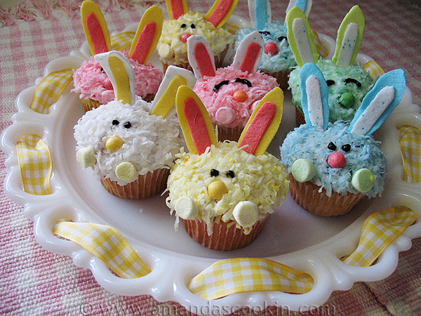 Easter Bunny Cupcakes Easter Dessert Recipes