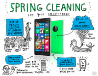 spring cleaning smart phone