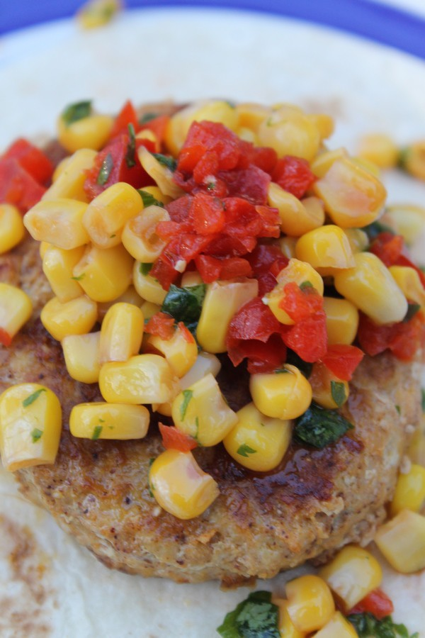 This delicious Turkey Taco Patties Recipe is really easy to make, thanks to AllWhites Egg Whites. Top it with a yummy Cilantro Corn relish & call it dinner!