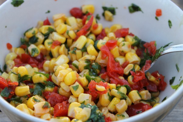 Grilled Mini Turkey Taco Patties with Cilantro Corn Relish