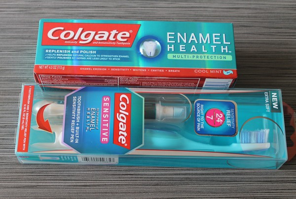 Colgate Sensitive Toothbrush and Toothpaste