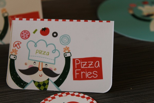 Pizza party menu card 1