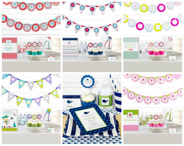 Simply Genie Designer Birthday Party Kits