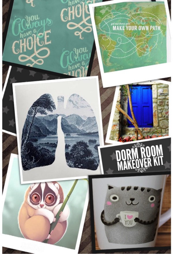 If you know a teen heading off to college this fall, a dorm room makeover kit is a super cool gift that's both practical and fun...especially when you hit the pages of Redbubble for inspiration. Check out my tips for creating a dorm room makeover kit that sends your favorite teen off to college in comfort and style!