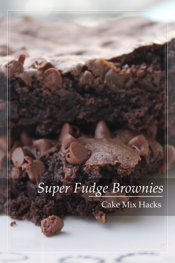 Looking for a yummy cake mix hack recipe for brownies? Check out my super fudge brownie recipe! So easy and chocolaty!
