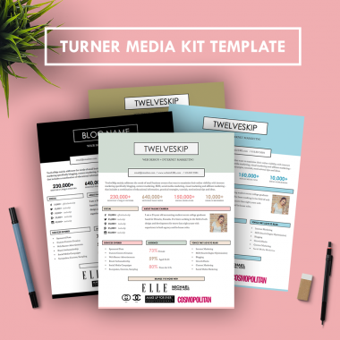 Create a stunning, professional media kit in as little as ten minutes with Hip Media Kits templates!