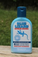 Blue Lizard Sensitive Sunscreen in sunlight