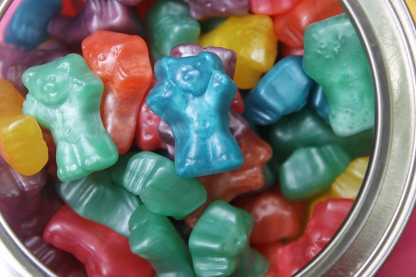 Haribo® Gummi Techno Bears: My son's favorite! Gummy Bears take on a whole new shimmery color with these almost-too-cute-to-eat darlings. Flavors include cherry, sour raspberry and apple.
