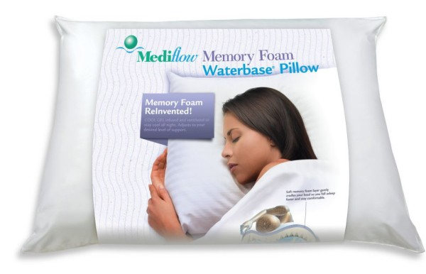 The Mediflow Waterbase Pillow You LOVE Now Has Memory Foam! Check it out and get a great night sleep!