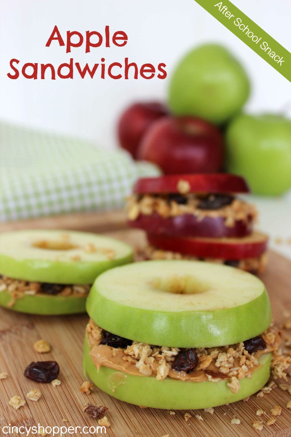 Apple-Sandwiches-Recipe: Back to School Lunch & Snack Ideas Your Kids Will Eat Up!
